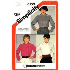 Simplicity 6159 Sewing Pattern Misses Blouse Size 6   10