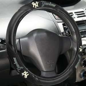 Black Vinyl Massage Grip Steering Wheel Cover