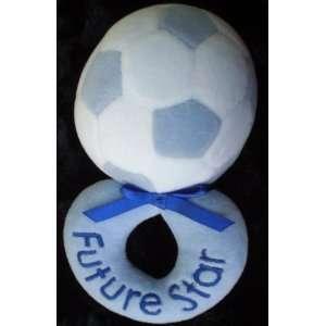 Future Star , Blue Ball, Plush Baby Boy Rattle Toy Toys