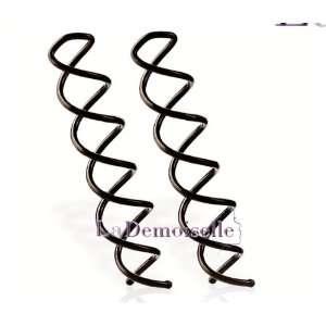 Simple Style Spin Pin Clip Hair Styler Dark Hair   2 Sets Beauty