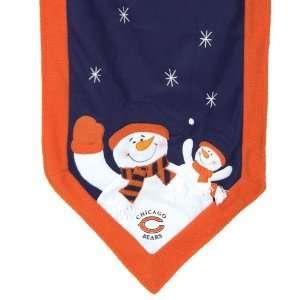 NFL Chicago Bears Snowman Christmas Table Runner