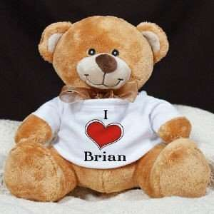 Love You Personalized Name Valentines Day Teddy Bear Toys & Games