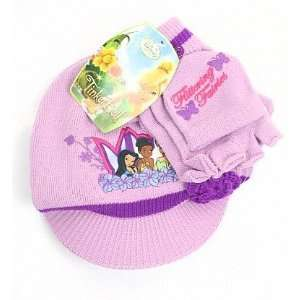Girls Winter Knit Purple Hat and Gloves Set 2T  4T Toys & Games