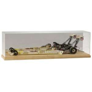 1/16 Scale Top Fuel Dragster Display Case with Wood Base
