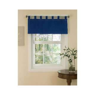 Denim Tab Top Valance   Blue (57x18)  Home & Kitchen