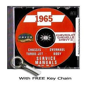 Repair Shop Service Manual Car CD 65 with Key Chain Chevrolet Books