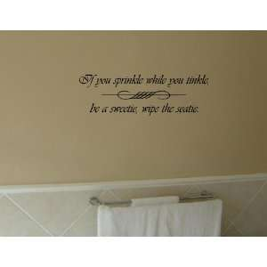 THE SEATIE Vinyl wall quotes bathroom sayings home art decor decal