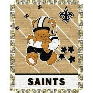 New Orleans Saints NFL Woven Jacquard Baby Throw Sports