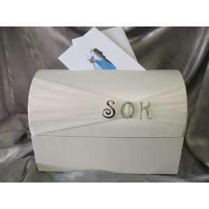 Monogram Reception Wedding Card Box: Health & Personal