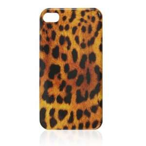 Gino Brown Black Leopard Print IMD Hard Back Cover Shell for iPhone 4