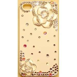 WHITE CAMELLIA FLOWERS Crystal Case for iPhone 4S & 4 Verizon AT&T