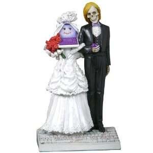 Till Death or Upgrade Do Us Part Skeleton Marriage Sculpture