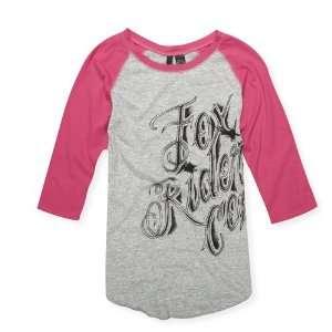 Racing Juniors 54710 SHADY LADY Baseball Tee T Shirt Heather Grey S