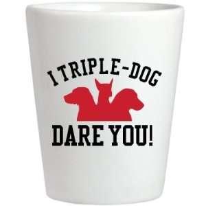 Triple Dog Dare You Custom Ceramic Shotglass