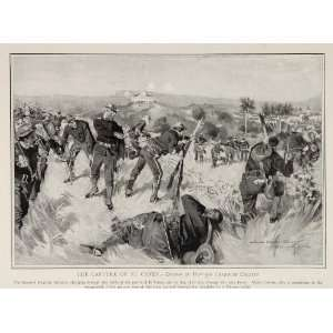 1899 Spanish American War El Caney H. C. Christy Print