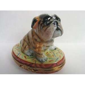 Bulldog French Limited Edition Limoges Box Home & Kitchen