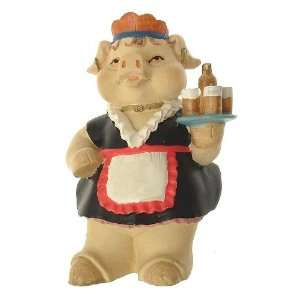 Collection Pig figurine dressed as a waitress   F378