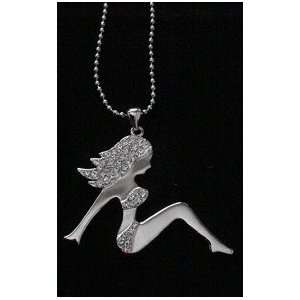 Sexy Girl 2 Rhinestone Pendant with Necklace #1113