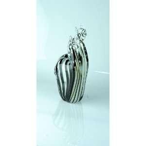 Jungle Twin Heads Handblown Glass Art Zebra C50