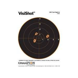VisiShot 8 Tgt 100Yd SiteIn/10/p (Targets & Throwers) (Paper Targets)