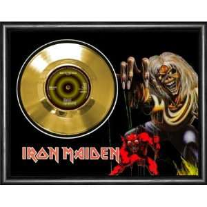Iron Maiden Run To The Hills Framed Gold Record A3