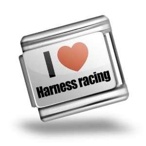 Italian Charms Original I Love Harness racing Bracelet
