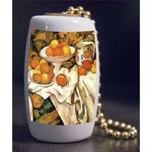 Fine Art Cezanne Apples and Oranges Porcelain Fan / Light Pull