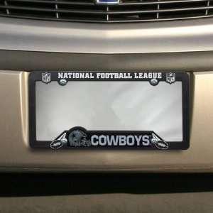 NFL Dallas Cowboys Black Plastic License Plate Frame