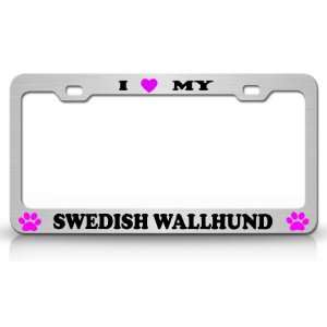 I LOVE MY SWEDISH WALLHUND Dog Pet Animal High Quality