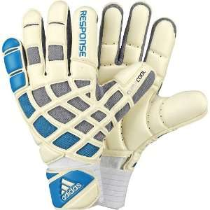 adidas Response Pro Climacool Goalie Glove (White, Sharp Blue, Lead, 7