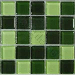 Evergreen Blend 7/8 x 7/8 Green Horizon Glass Blends Glossy Glass