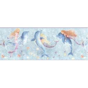 Mermaids and Dolphins Wall Border: Home & Kitchen