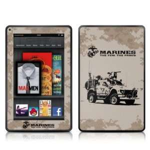 Artillery Design Protective Decal Skin Sticker for  Kindle Fire