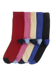 Clothing at Tesco  Rochas 5 Pack heel and toe design socks  socks