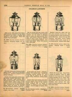 1940 Coleman Lanterns Gasoline Kerosene Quick Lite ad