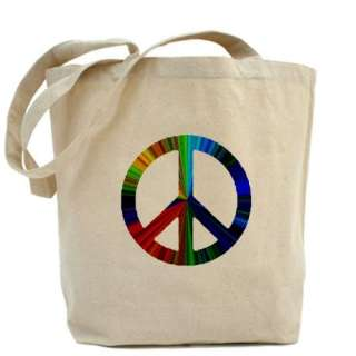 CafePress > Bags > PAW PRINT/PEACE SIGN Tote Bag