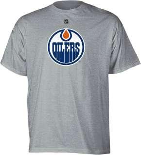 Edmonton Oilers Ryan Nugent Hopkins Grey Reebok Player Jersey T Shirt