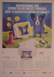 George Rodrigues~BLUE DOG~Xerox Inkjet Printer Art AD