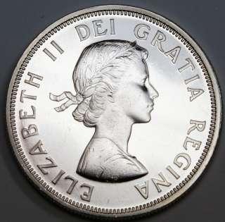 1964 CANADA SILVER DOLLAR COIN  CANADIAN CENTENNIAL SILVER COIN