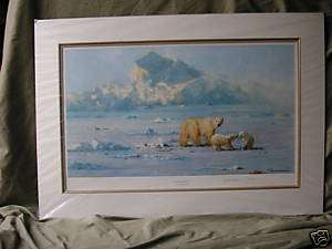 DAVID SHEPHERD*POLAR BEAR COUNTRY* SIGNED LIMITED PRINT