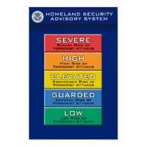 Homeland Security Advisory System Colour Chart by ZVPIUSA