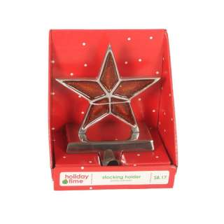 Holiday Time Star Stocking Holder Christmas Decor