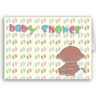 Feet Baby Shower Invitation TBA 4 15 09 Cards from Zazzle