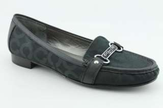 Coach Elsee Womens SZ 10 Black Loafers Used Shoes |