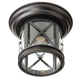 Shop allen + roth Oil Rubbed Bronz Outdoor Ceiling Light at Lowes