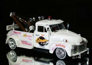 1953 Chevy Tow Truck Jada STREET LOW Diecast 124 Scale   White