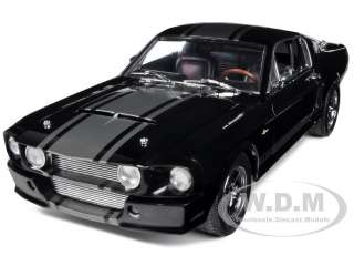 1967 SHELBY MUSTANG GT500 SUPER SNAKE BLACK W/SIL 1/18 SHELBY
