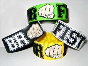 BROFIST 1 Inch Wide Rubber Bracelet Wristband