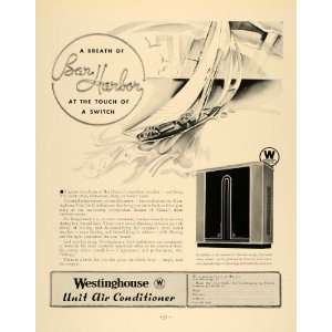 1933 Ad Westinghouse Unit Air Conditioner Micarta Boat