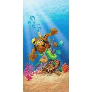 Large Scooby Doo Scuba Treasure Hunt Beach Bath Pool TOWEL